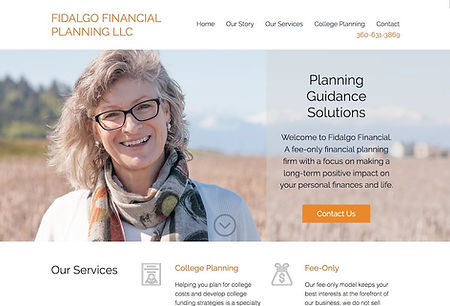 New Eve Creative Whidbey Island Web Design Fidalgo Financial Planning Project