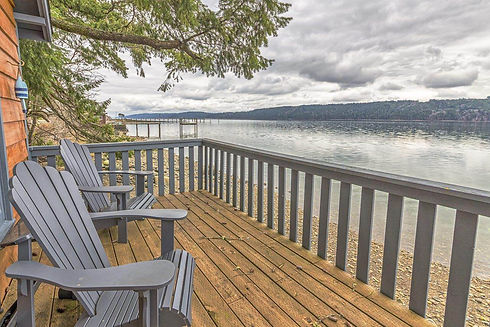 Vacation Homes on Hood Canal Giggle Fish Boat House View Looking North