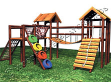 Gladiator Wooden Jungle Gym