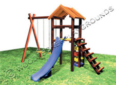 Spiders Web Wooden Jungle Gym