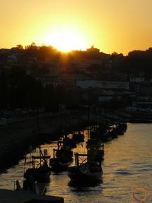 sunset in porto
