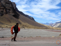 crossing the andes by foot