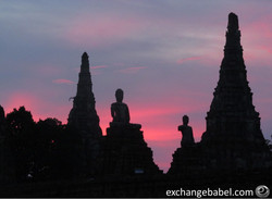 Ayuttaya_Thailand_sunset