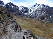 el choro trek - starting to descend