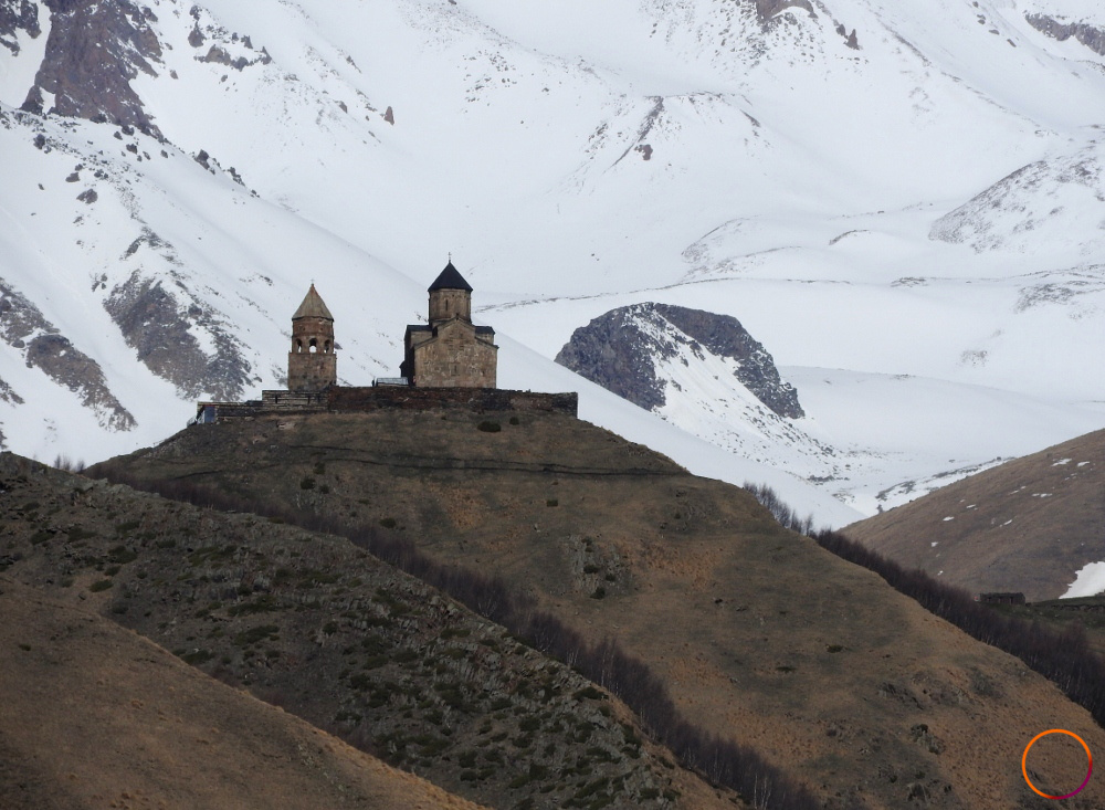 Kazbegi - a church up there