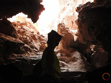 in the cave