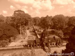 siemreap_angkorwat_baphuon_sepia_cambodia