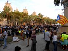 catalunyans protesting