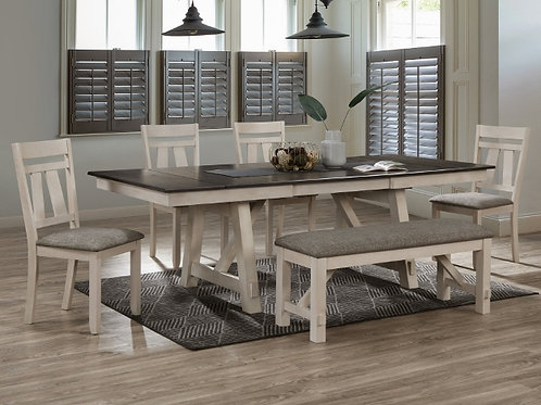 Maribelle Chalk Brown Dining Collection