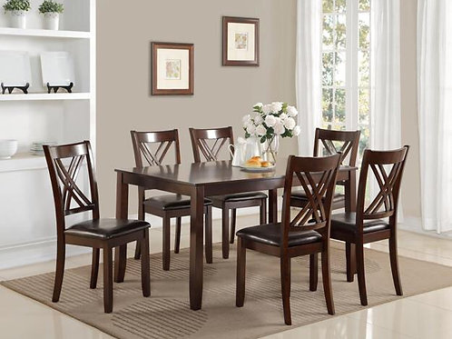 Eloise 7-PC Dining Room Table with Six Side Chairs