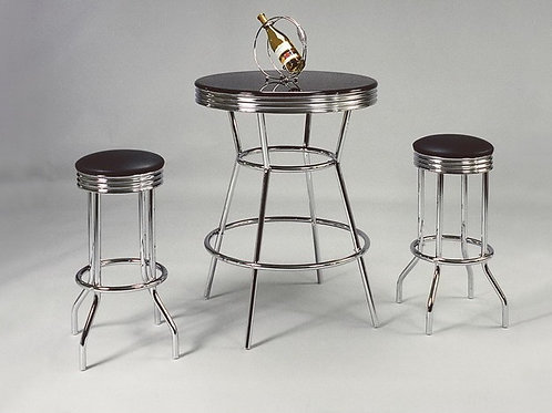 Retro 3 Piece Bar Table Set