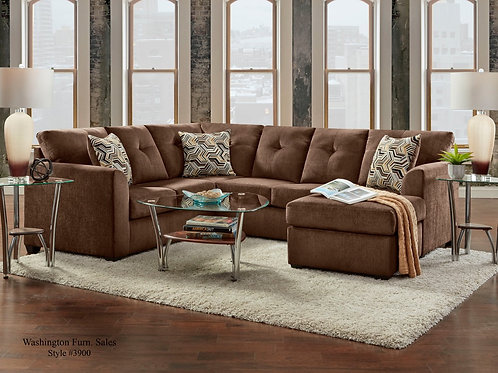 3900 Chocolate Chenille Sectional