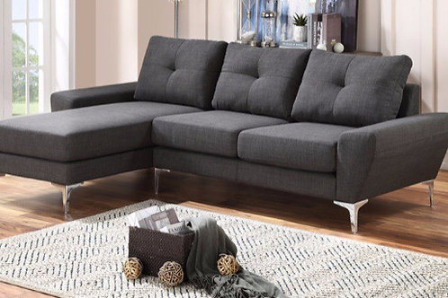 Scot 2-PC Grey Sofa/ Chaise Sectional