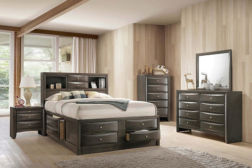 Emily Gray Storage Bedroom Suite