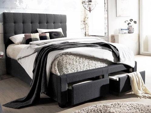 Luke Charcoal Grey Storage Bed