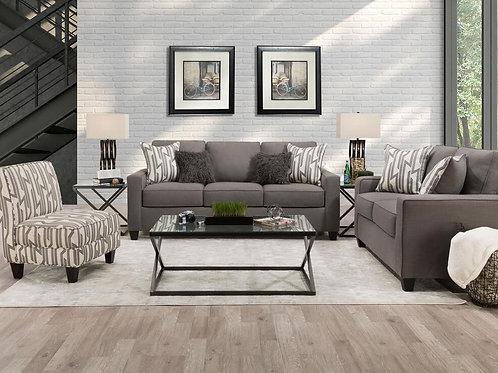 Lynx Linen Sofa and Loveseat