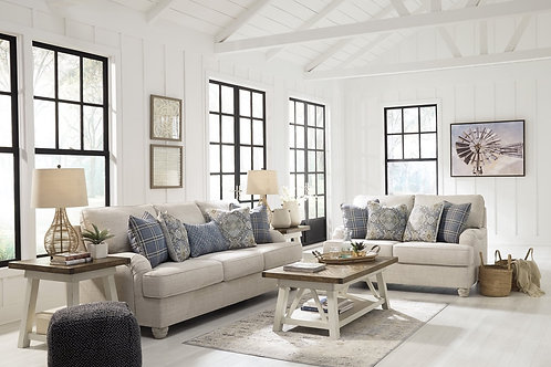 Ashley Outmeal Linen Sofa & Loveseat