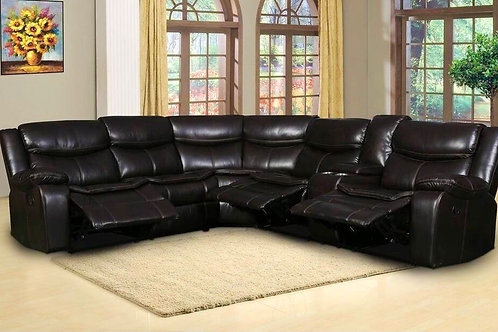 Larry Brown Leather Motion Sectional