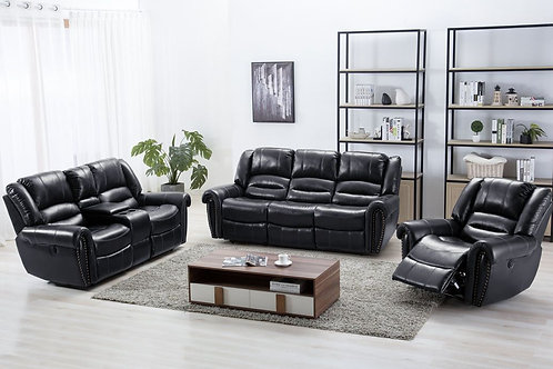 Lexington Gel Black 3-PC Reclining Set