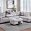 Thumbnail: Velvet Heights Sectional w/ Storage Ottoman and Cupholder