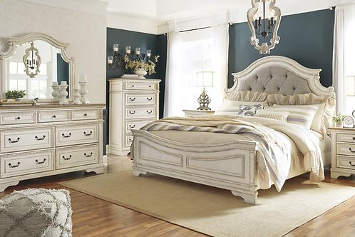 Realyn Chipped White Bedroom Suite