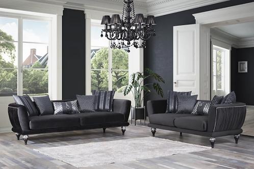 Lisbet Black Velvet Sofa & Loveseat