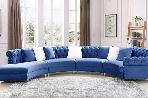 Fendi Blue Velvet Sectional
