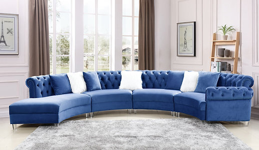 Fendi Blue Velvet Sectional