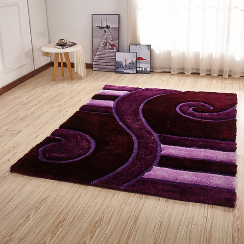 Crown Shag 3D Purple/Pink Area Rug