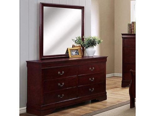Cherry Brown Dresser Mirror