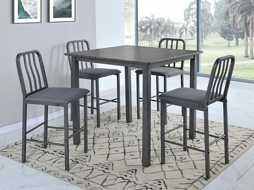 Rezno 5 Piece Counter Heigh Dining Table Set