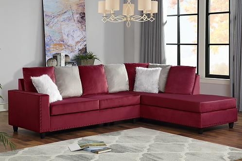 Cindy Red Reversible Sectional