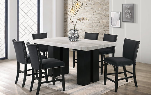 Finley Black Counter Height Table Set
