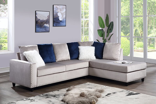 Cindy Grey Reversible Sectional