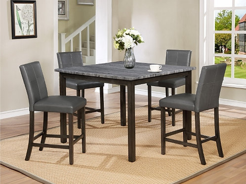 Pompei Counter Height Dining Table Grey