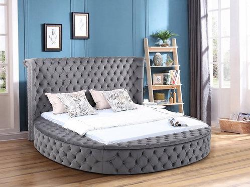 Penthouse Grey Platform Storage Bed