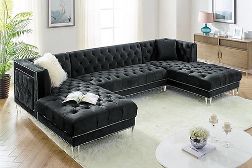 Prada Black Sectional