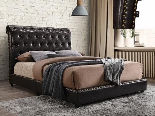 Janine PU Upholstered Platform Bed w/ USB Outlet