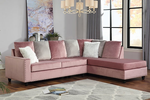 Cindy Pink Reversible Sectional