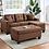 Thumbnail: Naomi Linen Sectional Sofa w/ Ottoman