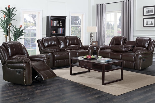 MONROSE BROWN RECLINER SET