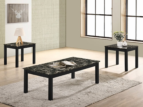 Thurner 3-Piece Faux Marble Occasional Table Set