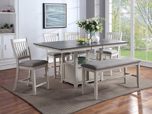 Buford Counter Height Table Chair Set with Bench