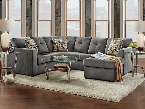 3900 Grey Chenille Sectional