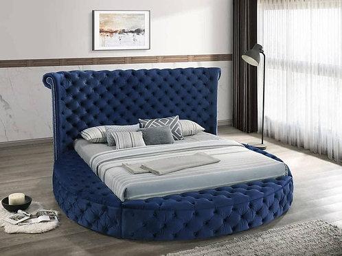 Penthouse Blue Platform Storage Bed