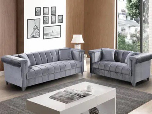 Marlin Grey  2-PC Sofa and Loveseat