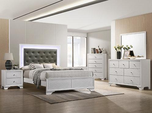 Lyssa LED White Bedroom Suite