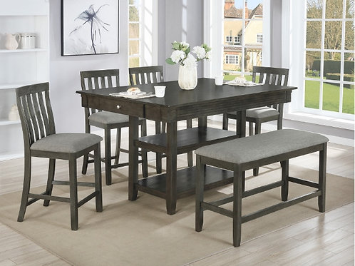 Nina Counter Height Table Chair Set with Bench
