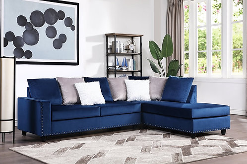 Cindy Blue  Reversible Sectional