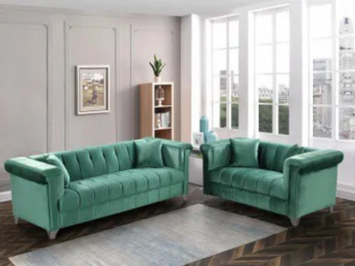 Marlin Green 2-PC Sofa and Loveseat
